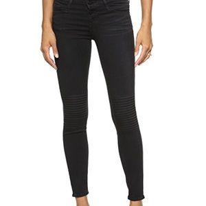 frame denim Le skinny de Jeanne moto jeans 26 EUC